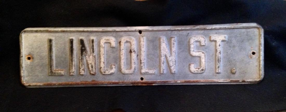 1940's Lincoln Street Sign