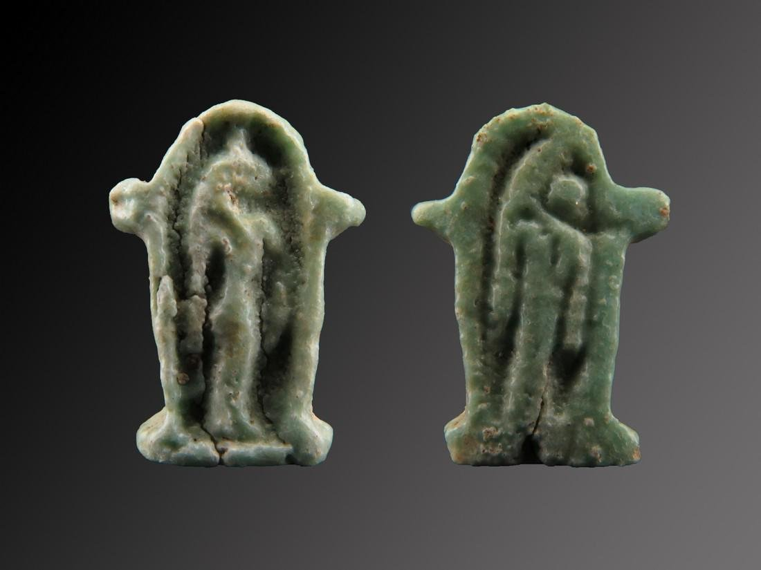 Egyptian Faience Shrine of Sechmet Amulet