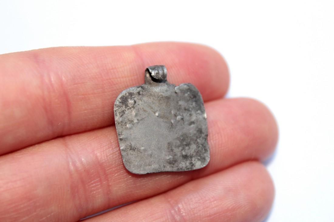 Ancient Silver Pendant - House - 2