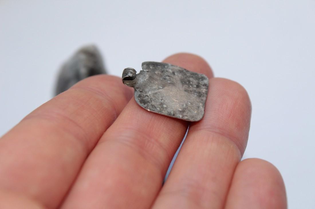 Ancient Silver Pendant - House - 6
