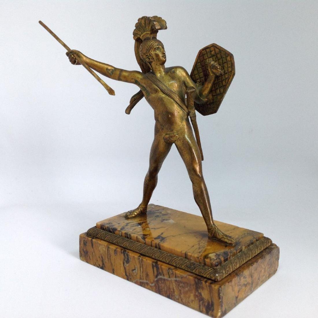 Antique Roman gilt bronze figure of a Centurion, c1820