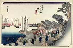 Ando Hiroshige Woodblock Tokaido Station #1: Shinagawa