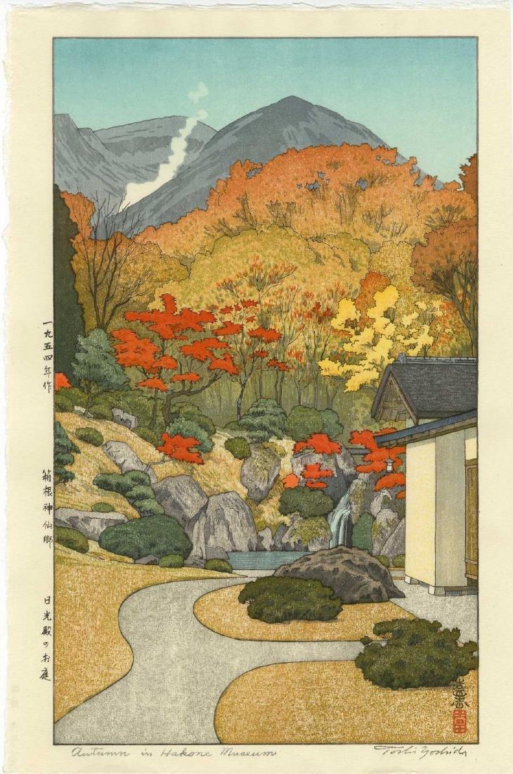 Toshi Yoshida Woodblock Autumn in Hakone