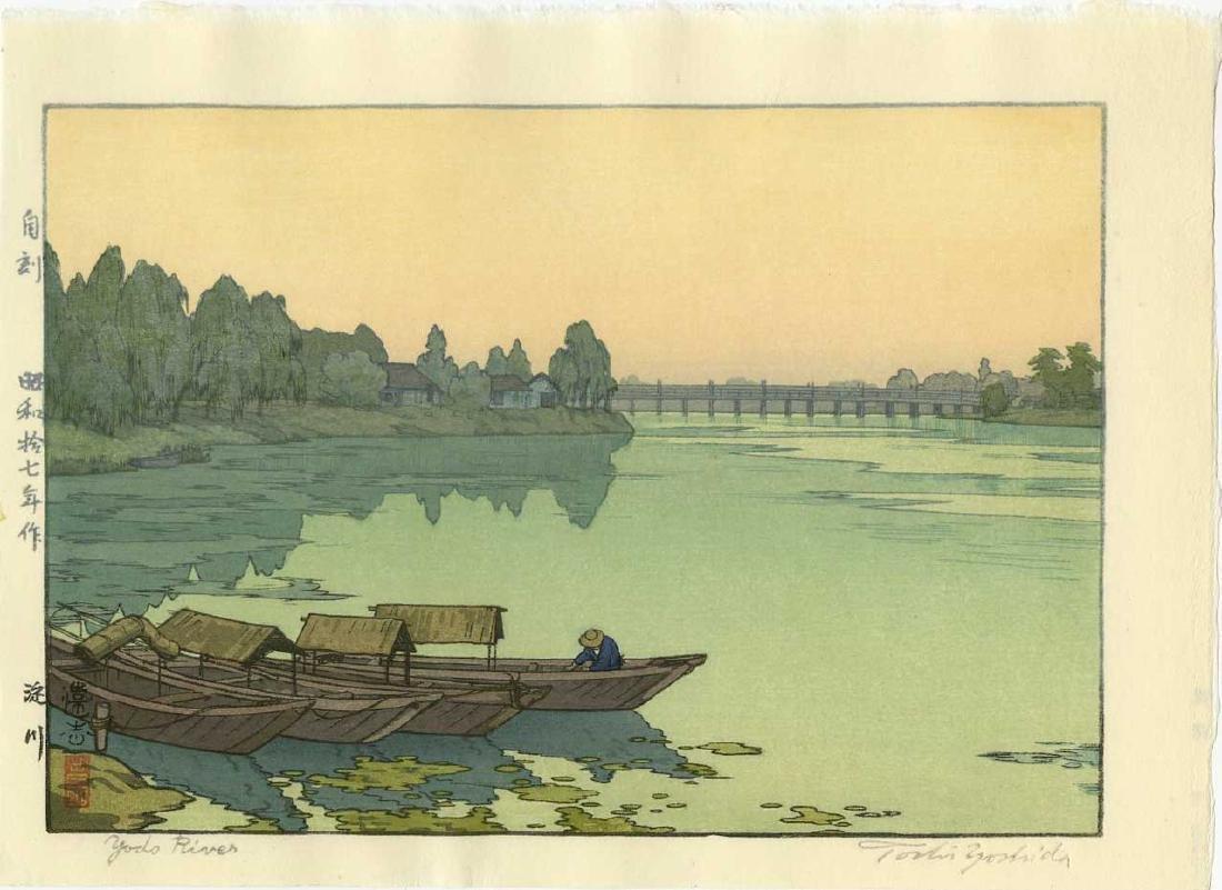 Toshi Yoshida Woodblock Yodo River