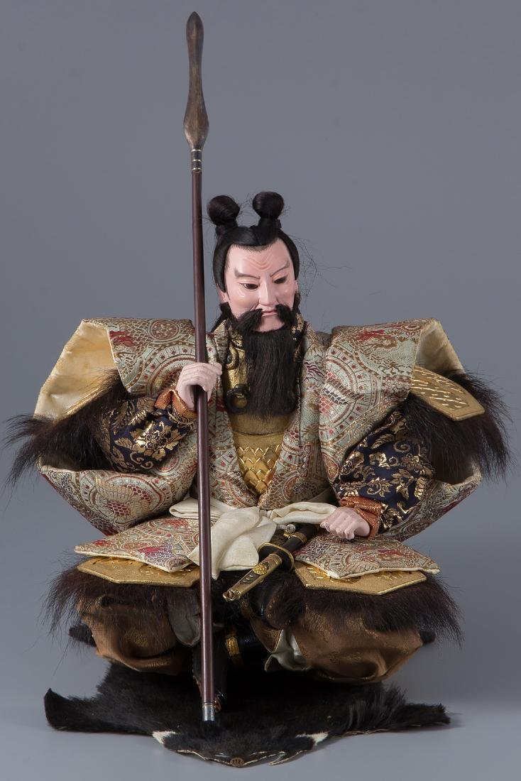 A Superb Japanese Musha Ningyo warrior doll, 1890