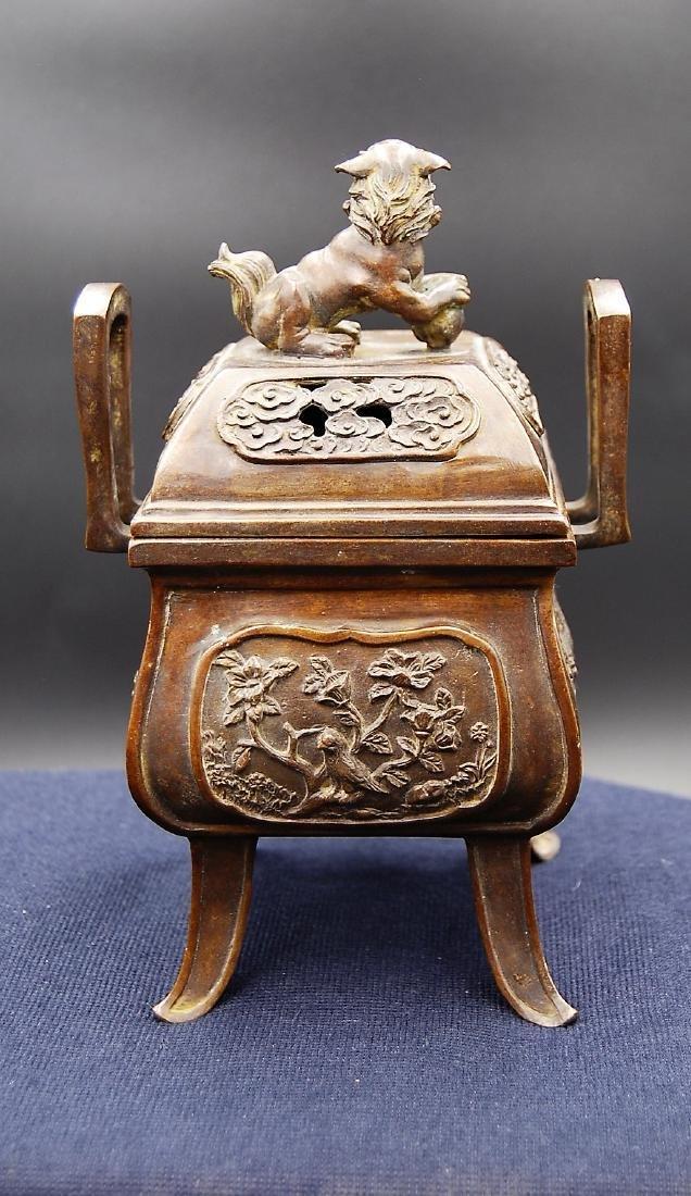 Chinese Qianlong Mark Bronze Censer