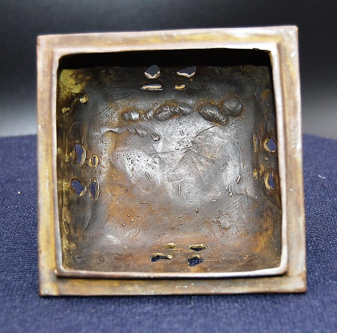 Chinese Qianlong Mark Bronze Censer - 2