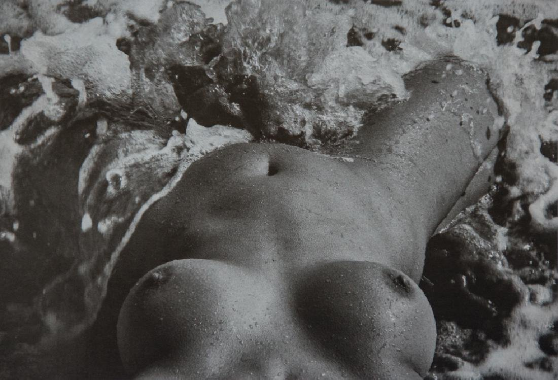 LUCIEN CLERGUE - Nude POV in Surf, 1971