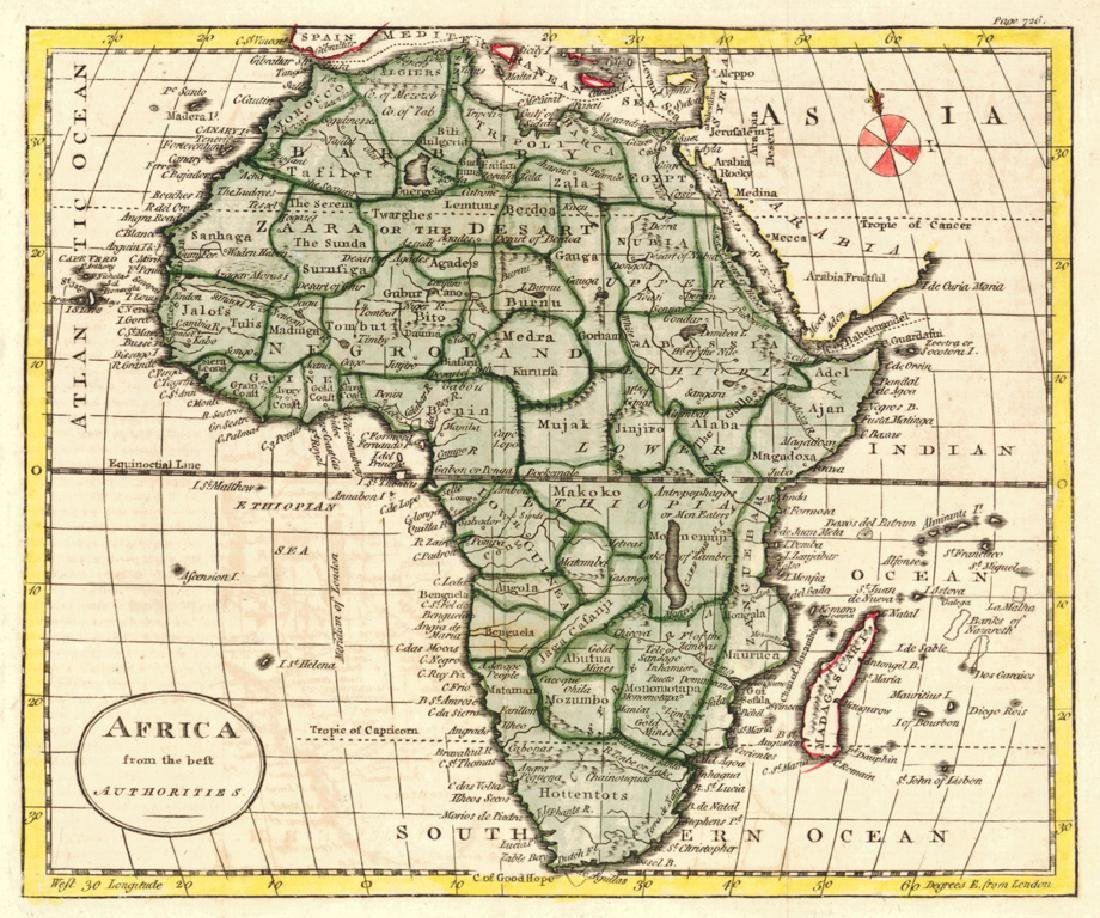 Kitchin: Antique Map of Africa, 1790