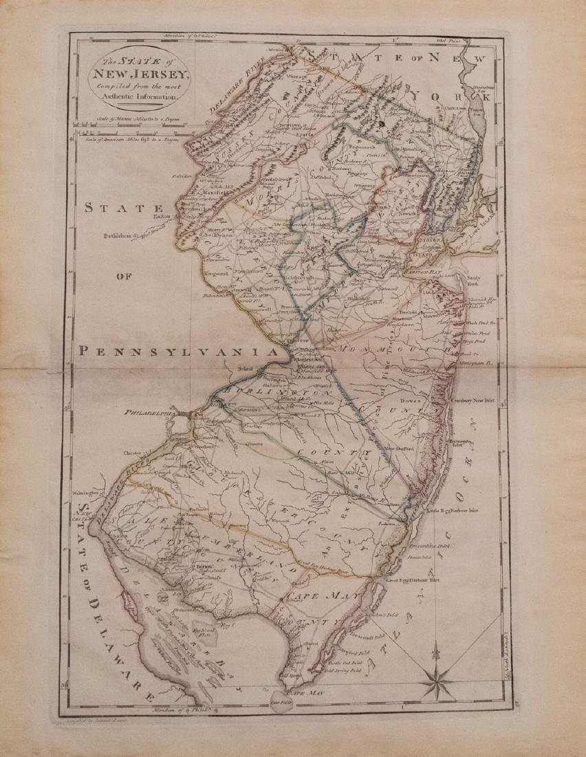 1814 Carey Antique Map of New Jersey
