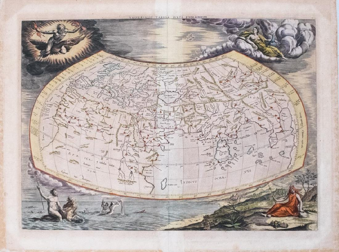 1695 Mercator Antique Map of the Known World