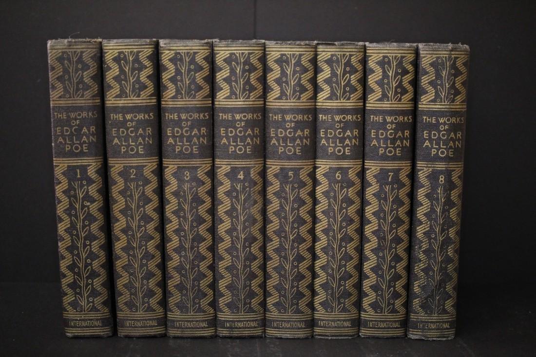 1933 Set 8 of 10 Books Works of Edgar Allen Poe
