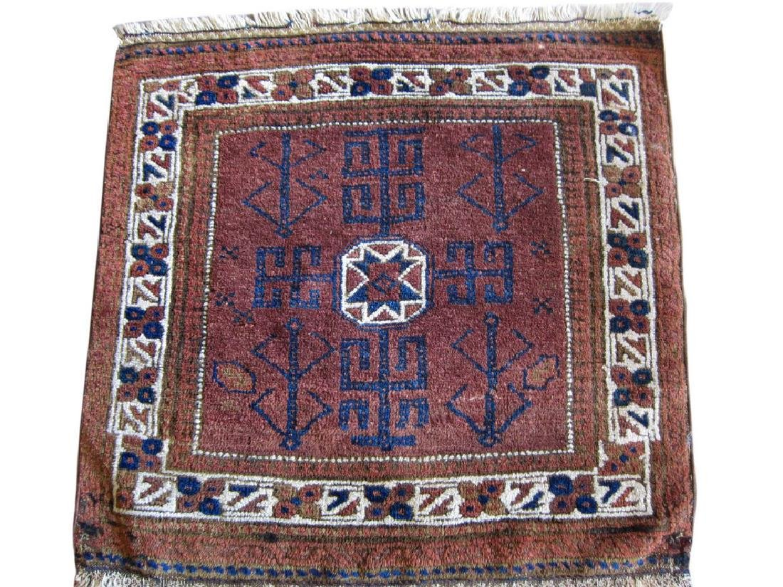 Vintage Persian Balouchi Rug Tribal Brown 2.5x2.5