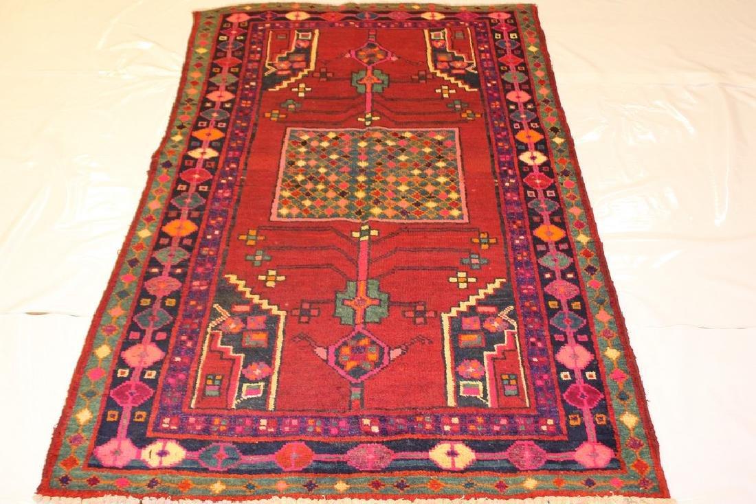 Vintage Persian Hamadan Rug 4.1x7.4