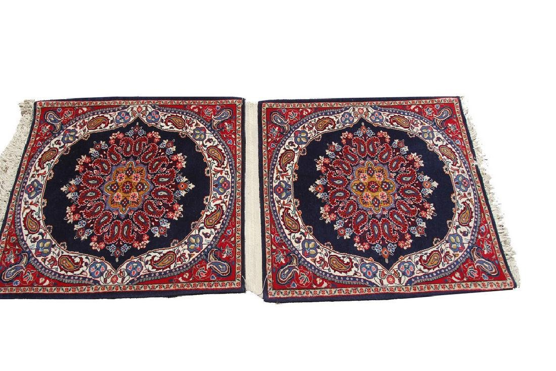 Pair of Fine Vintage Sarouk Rugs 2.3x3.6 Each