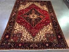 Authentic Persian Heriz Rug 6.10x9.6