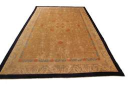 Antique Chinese Art Deco Butterfly Dragons Rug 9.3x11.8