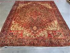 Authentic Vintage Persian Heriz Rug 8.5x10.9