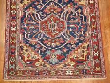 Vintage Square Persian Heriz Serapi Karajeh Rug 3.6x4.1