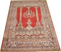 Vintage Persian Kashan Rug 4.5x6.8