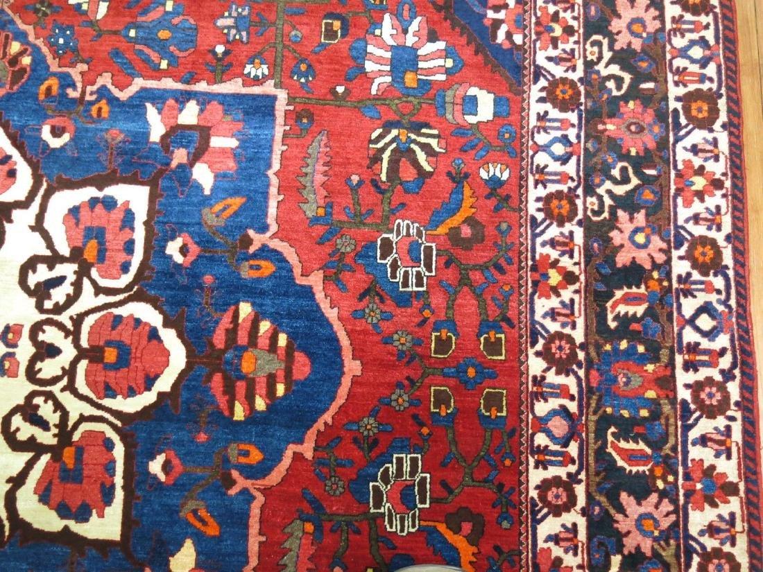 Vintage Persian Bakhtiar Bakhtiari Bidjar Rug 10.8x14.9 - 2