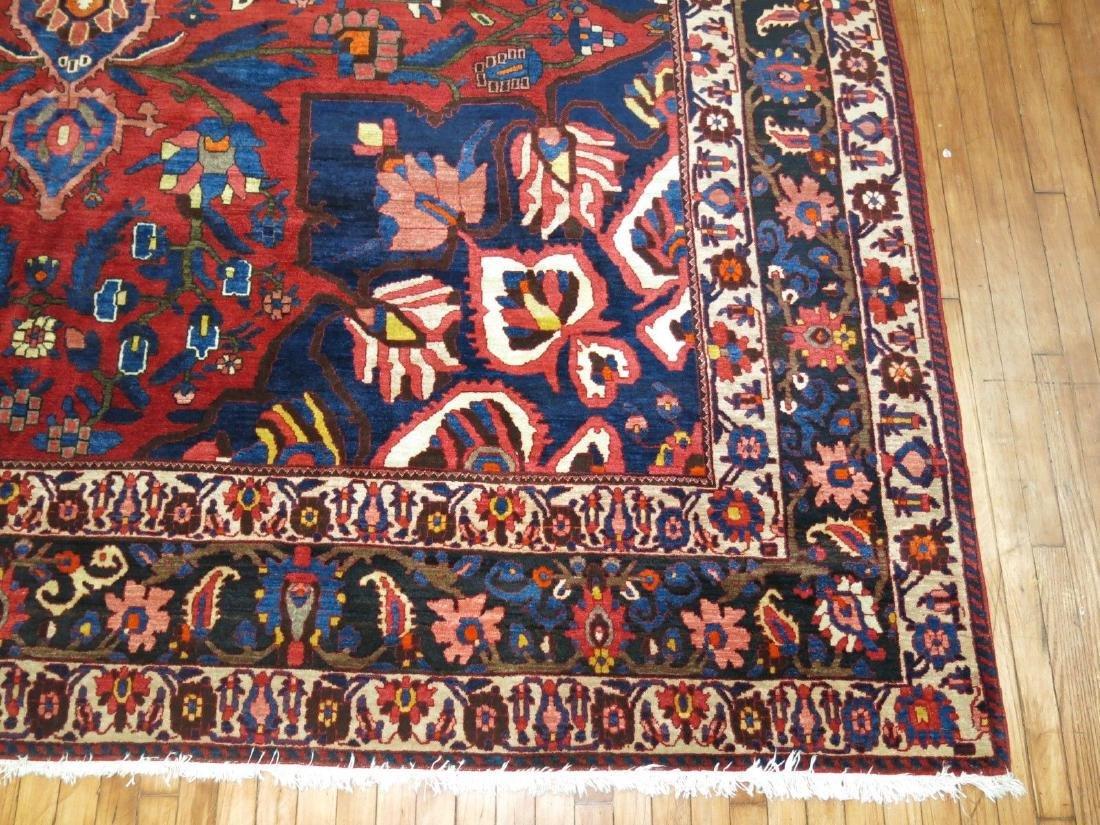 Vintage Persian Bakhtiar Bakhtiari Bidjar Rug 10.8x14.9 - 3