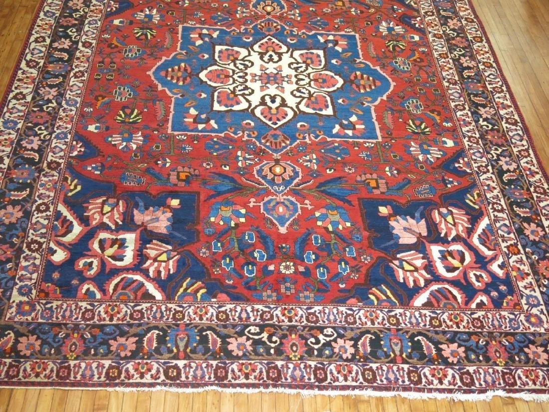 Vintage Persian Bakhtiar Bakhtiari Bidjar Rug 10.8x14.9 - 4