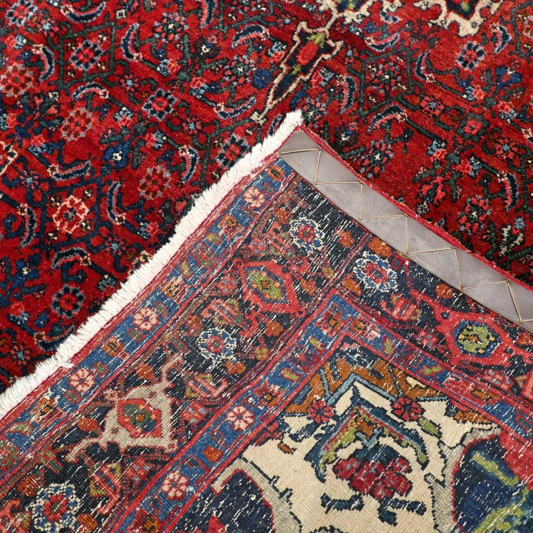 Antique Hand Knotted Bidjar Tug 7.5x4.7 - 2