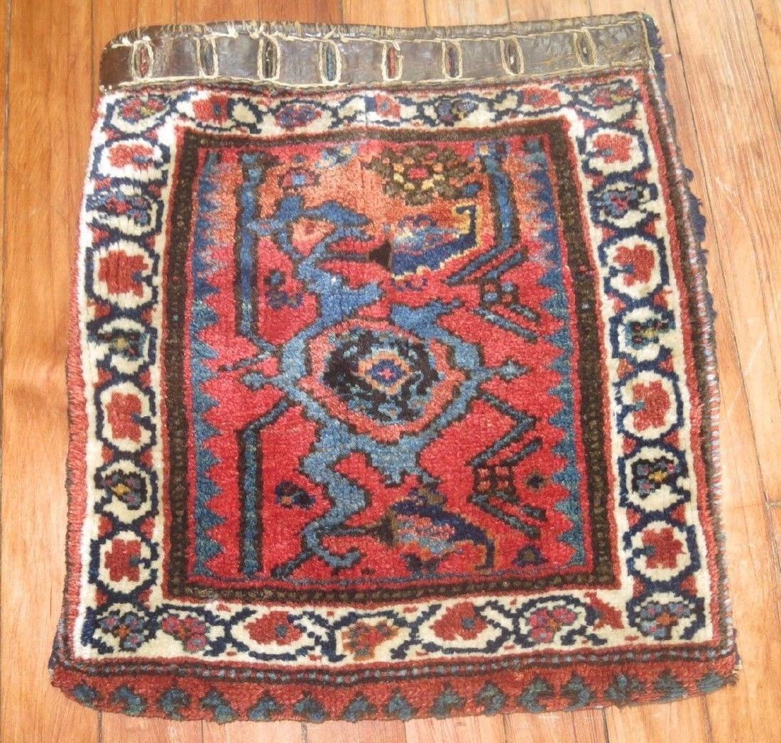 Antique Persian Kurdish Kurd Afshar Bagface Rug 1.4x1.5