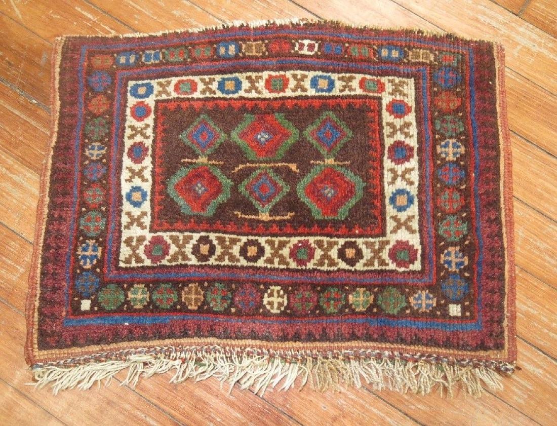 Antique Persian Afshar Bagface Rug 1.1x1.6