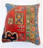 Pillow Made From An Antique Persian Heriz Rug 1.5x1.8