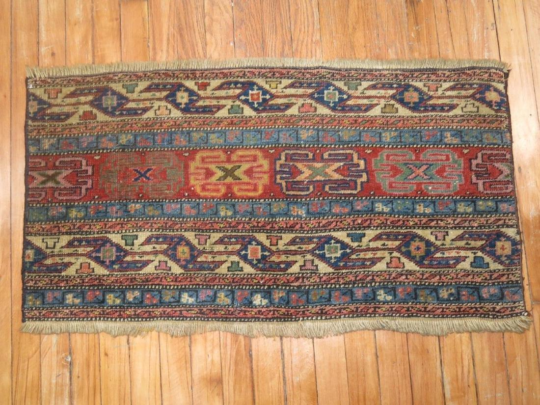 Antique Persian Mafrash Shahsavan Rug Fragment 3.1x1.7