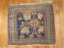 Antique Khorjin Afshar Shiraz Bagface Rug 1.11x2.2