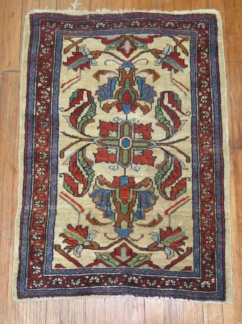 Antique Persian Malayer Hamedan Rug 2.3x3.1