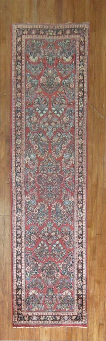 Vintage Gorgeous Persian Sarouk Rug Runner 2.8x10.1