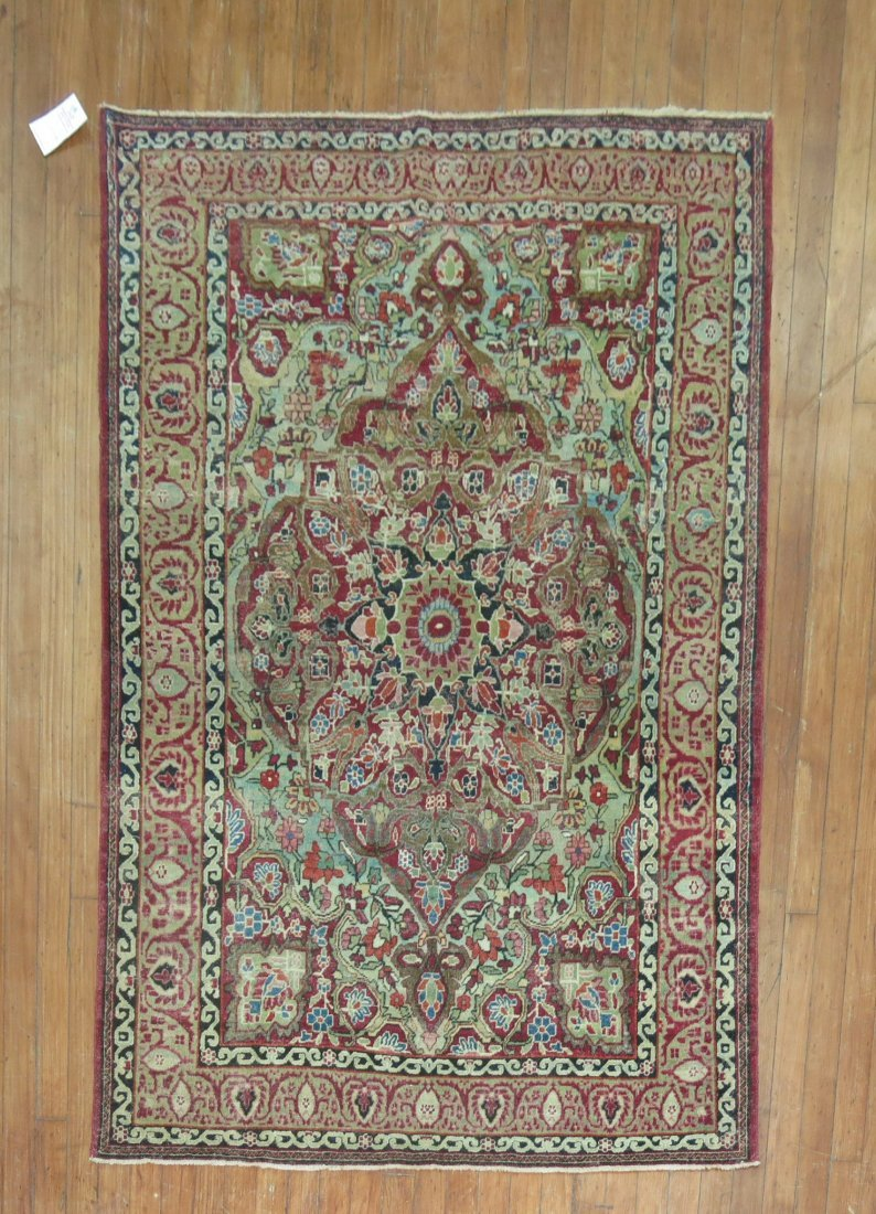 Antique Persian Lavar Kerman Kirman Rug 3.10x5.9