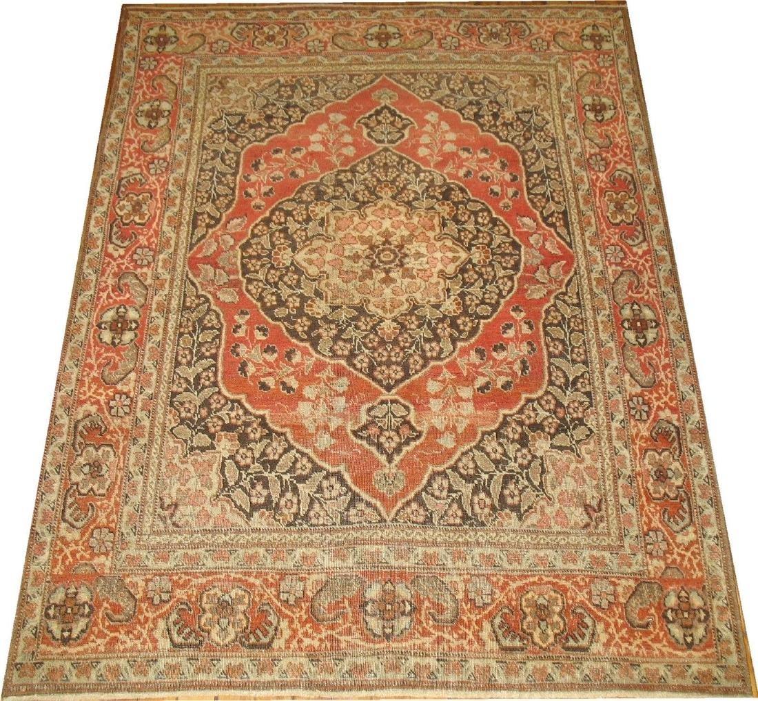 Antique Classy Persian Hadji-Jali-Li Tabriz Rug 3.9x5.2