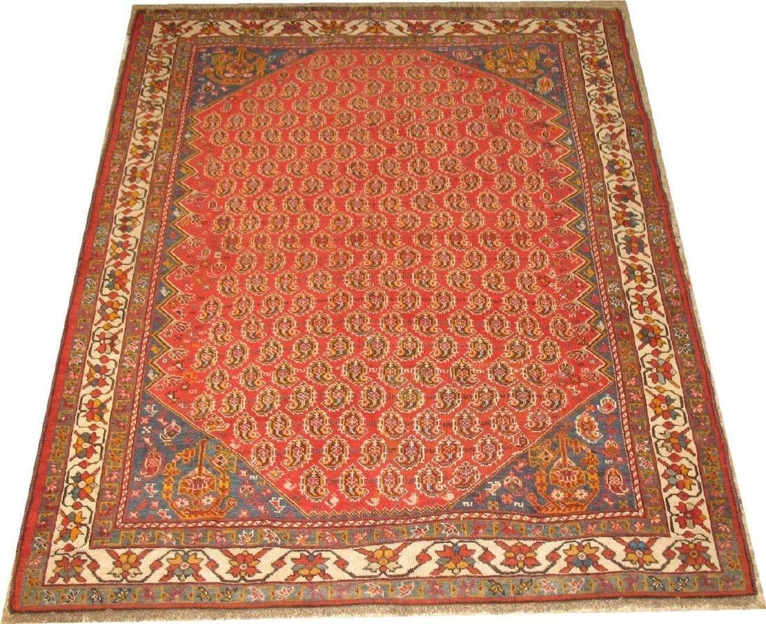 Antique Persian Qashqai Shiraz Rug 4x5