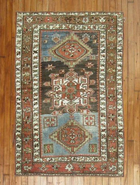 Antique Persian Heriz Karajeh Rug 3.4x4.10