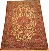 Vintage Persian Kashan Isfahan Rug 4.3x6.9