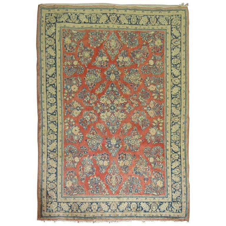Vintage Persian Sarouk Rug 5.6x8