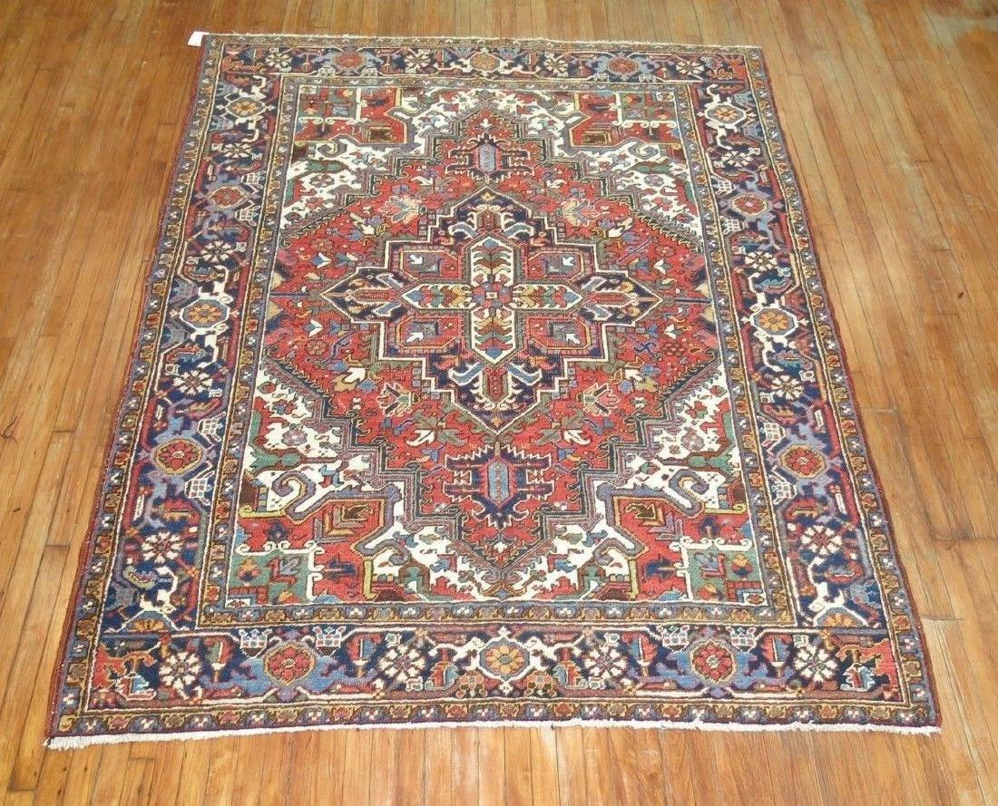 Antique Persian Heriz Rug 6.9x8.9