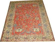 Antique Persian Heriz Serapi Rug Square 4.10x6.5