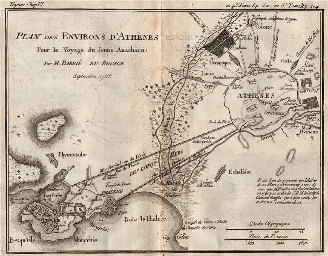 Barbie du Bocage: Antique Plan of Athens & Environs