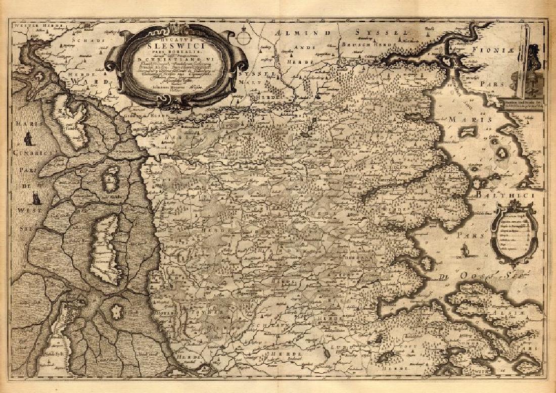 Blaeu: Antique Map of Duchy of Schleswig, 1667