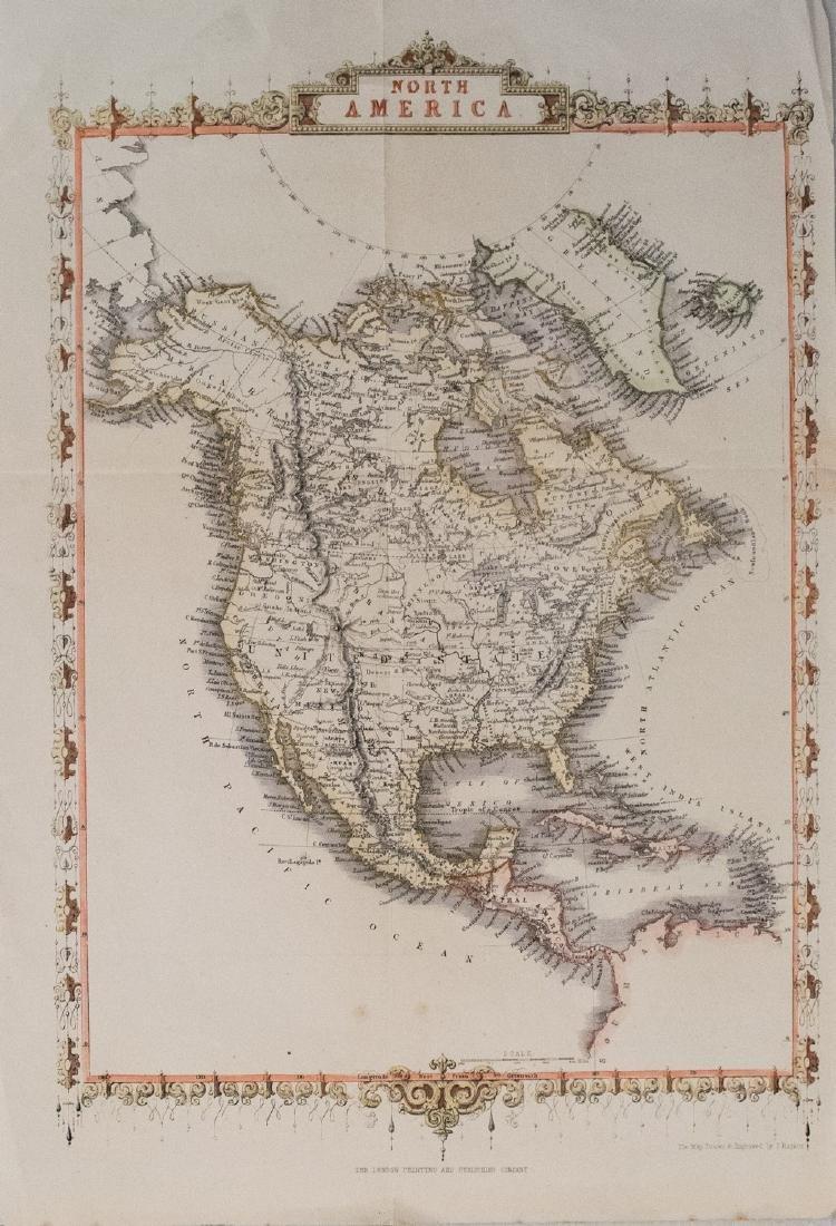 1859 Tallis Antique Map of North America