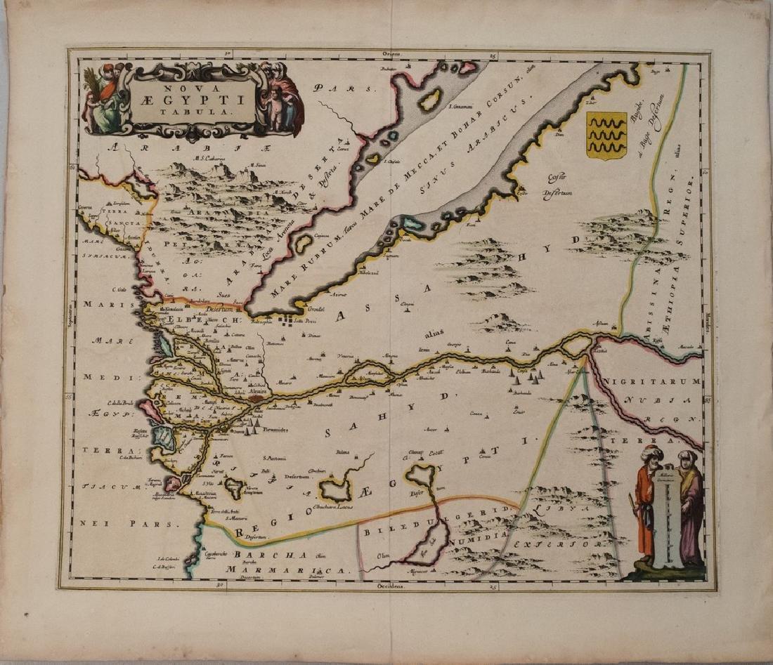 1650 Blaeu Antique Map of Egypt