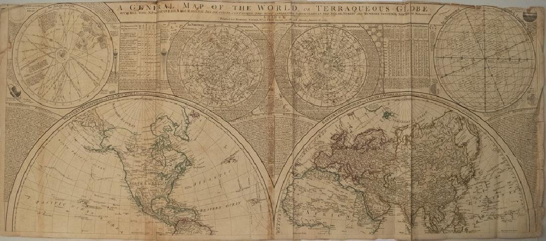 1787 Dunn Map of the World and Celestial Maps