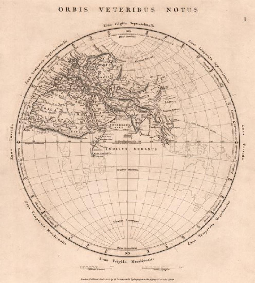 Arrowsmith: Antique Map of Ancient World, 1828