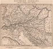 Arrowsmith: Antique Map of Central Europe, 1828